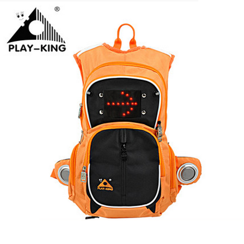 PLAYKING New Turn Signal bike light and Music Backpack 16L Nylon Waterproof Camping Hiking Bag Outdoors Sport Student  Woman Man free shipping 2 0mp 30fps 1080p hdmi vga dual output digital industrial microscope camera 8x 130x optical c mount lens