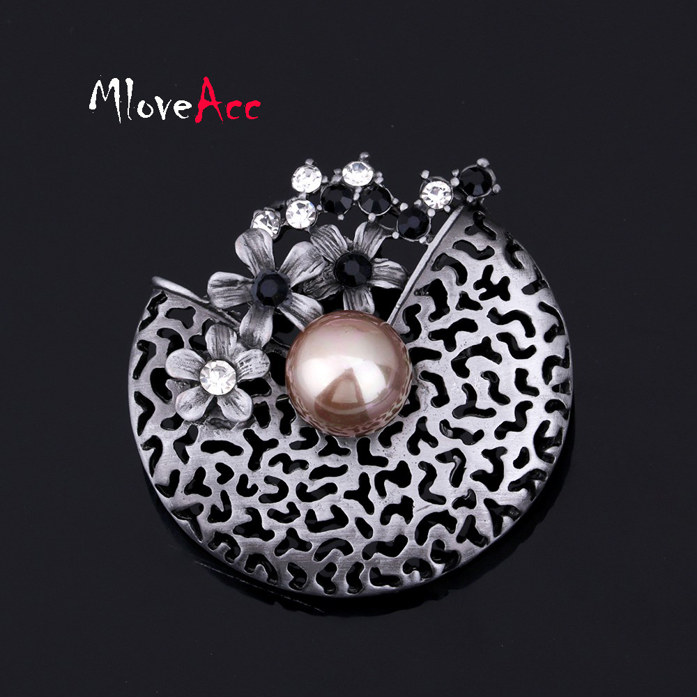 MloveAcc Antique Finish Flower Creative Filigree Cap ...