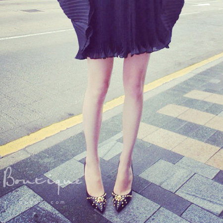 ФОТО 2016 spring tide Europe fashion explosion rivet high heels shoes women's shoes all-match temperament