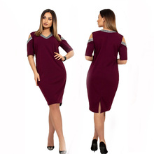 2019 New Designer Summer Women Dress Sexy Big Size Female V Neck Casual Straight Dresses 6XL Oversized Vestidos Party Gift