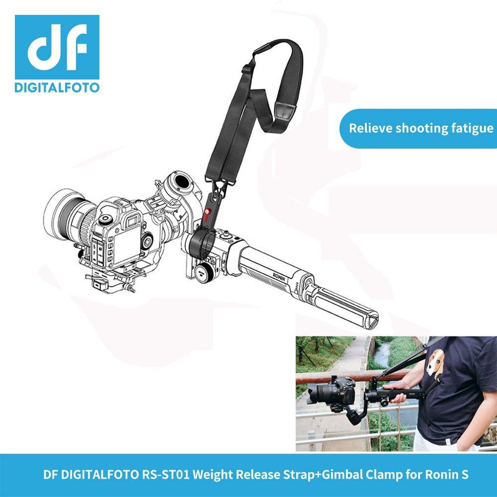 DF DIGITALFOTO RS-ST01 Appendere fibbia a mano cinghia di spalla Imbracatura della cinghia Fibbia a sgancio per DJI RONIN S 3 Assi Gimbal stabilizzatore