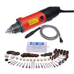 240 W wiertarka elektryczna z mocy na wale narzędzia 119 akcesoria o zmiennej prędkości dla Dremel mini wiertarka narzędzie ścierne narzędzia obrotowy obrotowy|electric drill|drill electricvariable speed drill -