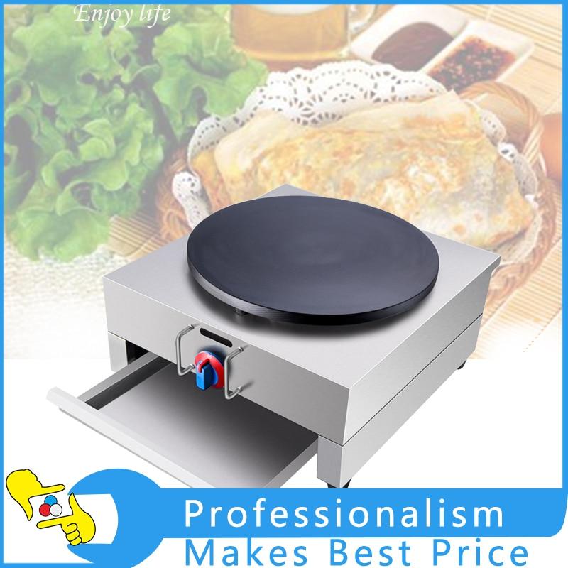 все цены на High Quality Single Head Gas Crepe Maker Pancake Making Machine NP-595 онлайн