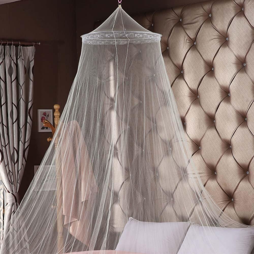 ABEDOE Utility Kant Bed Klamboe Mesh Gordijn Prinses Ronde Dome Bed Netto 2 Kleuren Insect Fly Mosquito Voorkomen Luifel
