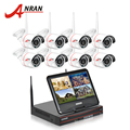 "ANRAN Plug And Play 8CH Wireless Surveillance System 10""LCD NVR 2TB HDD 720P HD H.264 Outdoor IP IR Night Vision Security Camera"