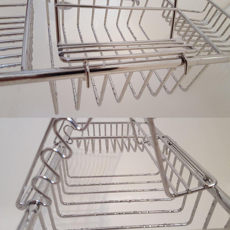 Over Bath Tub Racks Shower Organizer Bathtub Caddy Tray with Extending Sides