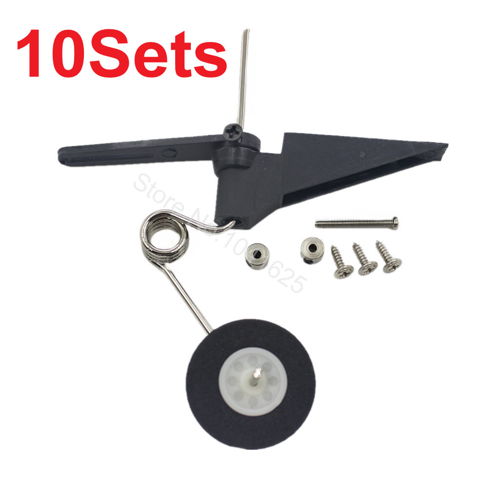 10Set/lot Replace Tail Wheel Assembly 60x25mm D28/30 Aeromodelling RC Plane Parts Fit 540T Flymodel FM06-301 25 metal milling press quill feed return coil spring assembly 48 x 25mm max d t