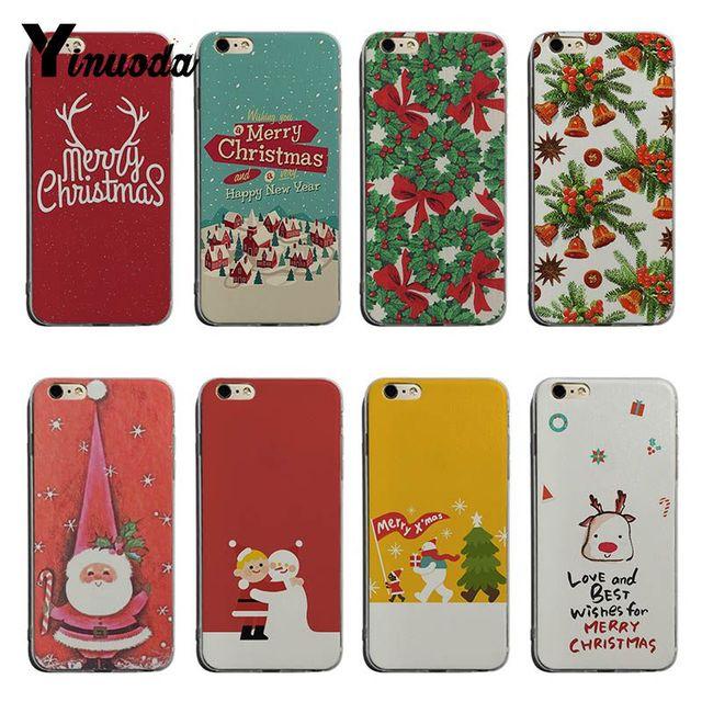 Yinuoda Cute Cartoon Christmas Wallpaper Diy Colorful Printing Tpu