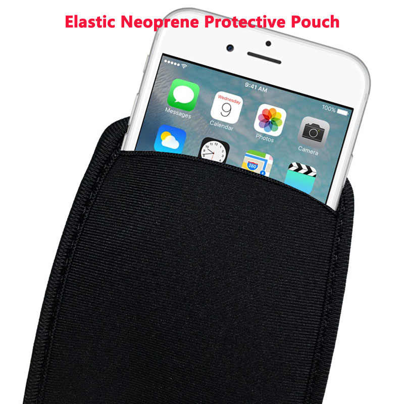 For iPhone X 4 5S 8 7 6S PLUS Soft Elastic Neoprene Protective Pouch bag Case for Samsung Galaxy S7 Edge S8 s9 Plus note 8