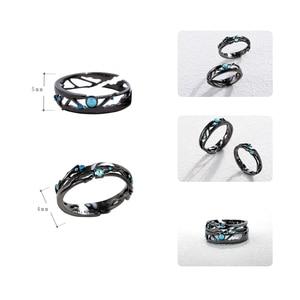 Image 5 - Thaya CZ anillos de plata de ley 925 con Circonia cúbica azul brillante, joyería de Estilo Vintage Retro bohemio para amantes de las mujeres
