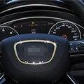 Volante de estilo do carro Definir trado diamante Broca adesivo Decorativo Interior acessórios círculo de metal capas Para Audi Q3 A6