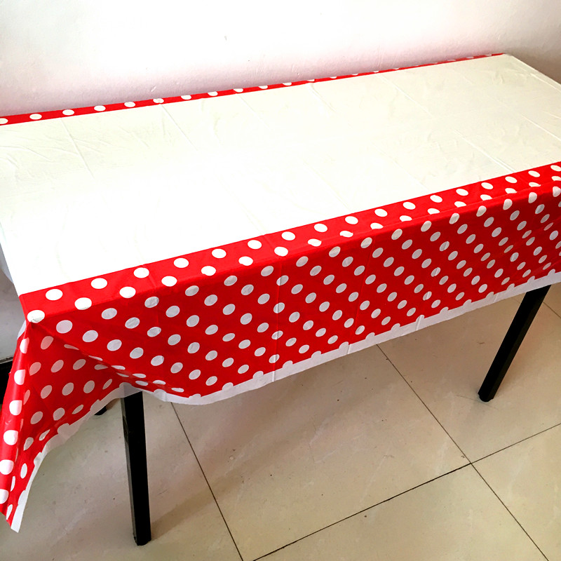 Dot Design Tablecloths Birthday Wedding Party Decoration Dot Table Cover  Red Yellow Green Blue Dots Theme Tablecloth In Disposable Party Tableware  From Home ...