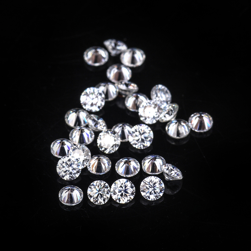 30pcs Small Size Test Positive 1.0mm EF Round Shape Brilliant Cut Loose Moissanites Gemstones for Jewelry Making