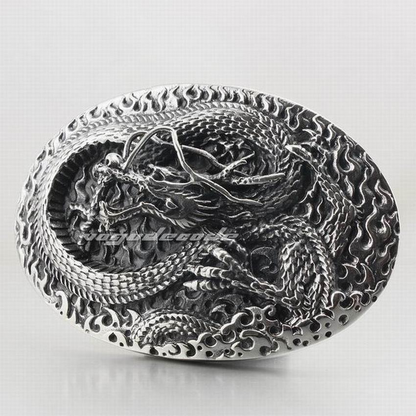 Énorme et lourd en acier inoxydable 316L Dragon hommes Biker boucle de ceinture P022