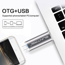 Suntrsi USB 3.0 Flash Drive OTG For Android Phone High Speed Memory Stick Pen Drive 64GB 32GB 16GB 8GB USB Flash Drive Metal
