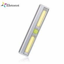 Eletorot veilleuse de garde robe, magnétique COB LED, à piles, armoire de placard, éclairage nocturne sans fil, lampe pour réparation de voiture