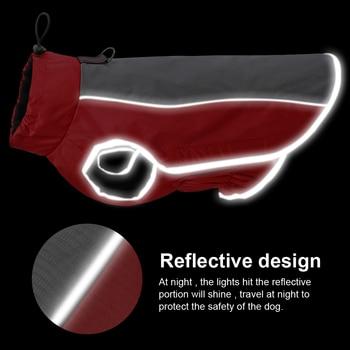 Vestiti del cane Riflettente Impermeabile Pet Giacca Cappotto di Inverno Del Cucciolo Abbigliamento Per Le Piccole Medie Cani di Taglia Grande Pitbull Bulldog Francese 1
