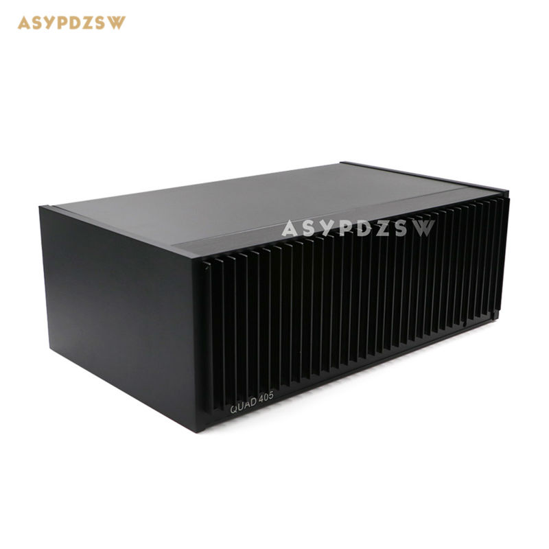 Classic 99% CLONE QUAD405 Power amplifier aluminum chassis 350*123*214 AMP Enclosure/Case With heat sink 3206 amplifier aluminum rounded chassis preamplifier dac amp case decoder tube amp enclosure box 320 76 250mm