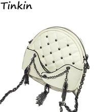 Tinkin Neu Kommen Frühling Punk Frauen Tasche Kleine Vintage Kette Tasche Mini Frauen Umhängetaschen Mode Frauen Umhängetasche