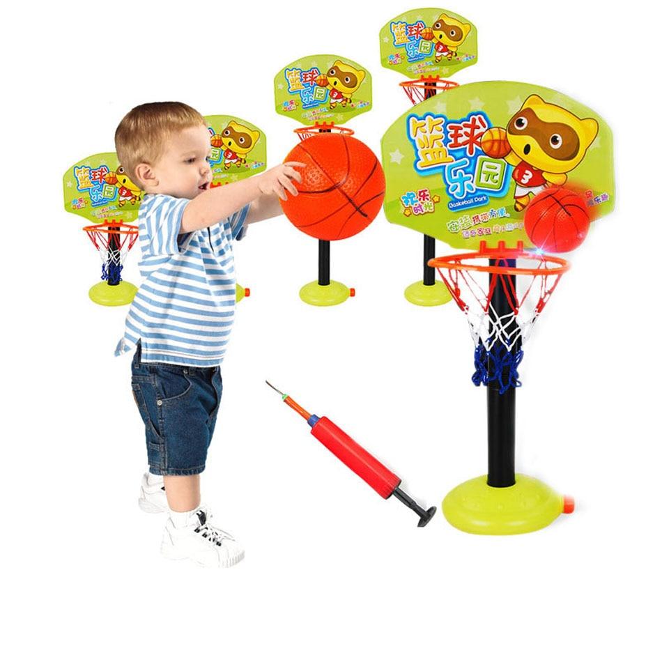 Kids adjustable toy basketball hoop children basketball for Children indoor