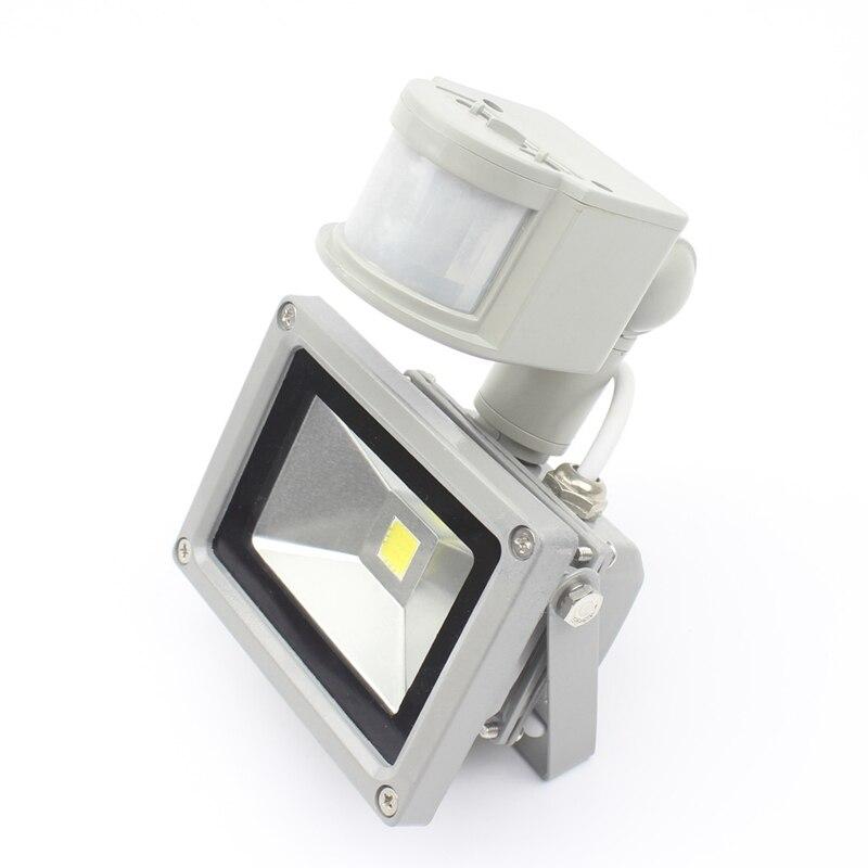 4PCS 12V PIR 10W LED floodlight Toolery waterproof spotlight garage security Motion Sensor Time Lux adjustable free shipping