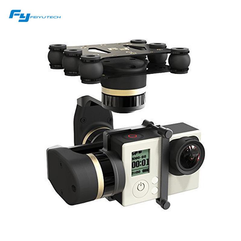 Prix pour Feiyu mini3d 3-axis mini brushless 3d cardan pour gopro hero 3 + gopro hero 4 aérienne photograrhy pour avions ilookplus