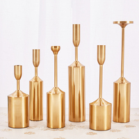 6 pieces set candlestick candle holder Metal modern simple candlestick wedding Candle Holders Stand Home decoration