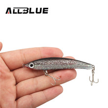 ALLBLUE 5pcs Simulation Fishing Lure 80mm/14g  Sinking Artificial Bait Shad Minnow 3D Eye Wobbler Bass Lure Fishing Tackle peche
