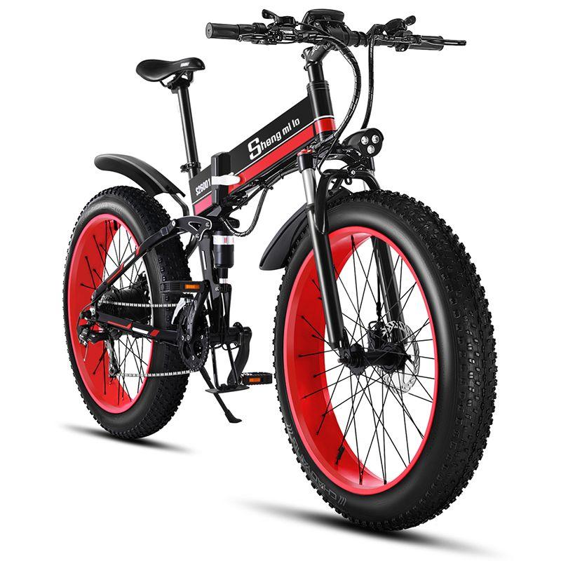 Vélo électrique 26 pouces ebike 48V1000W VTT électrique électrique vélo pliant 4.0 gros pneu vélo électrique plage e-bike