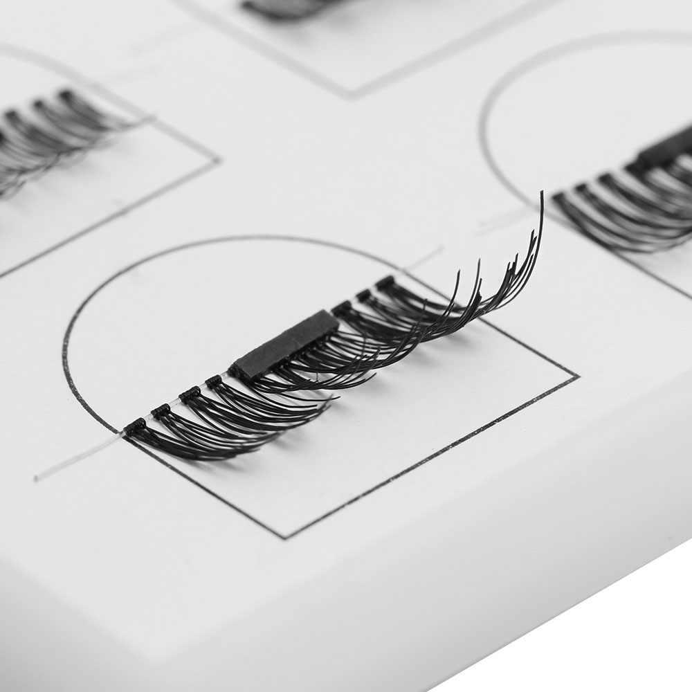 1 juego reutilizable 3D magnético pestañas postizas suave increíble hecho a mano grueso largo cosmético imán pestañas herramientas de extensión