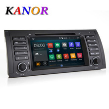 Quad-core 1024*600 car dvd player for BMW E39 E53 X5 M5 android 5.1.1 gps navigation system lecteur casstte radio automotivo