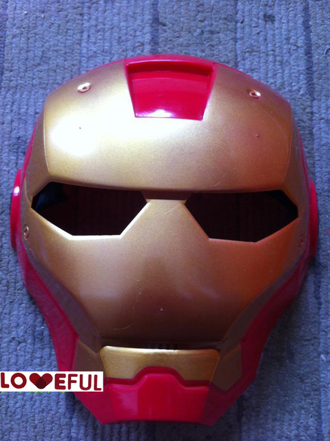 new 2pcs 1 lot quality cosplay common ironman mask eyes makeup toy