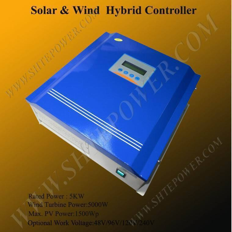 High quality 96v solar wind hybrid charge 5000w 5KW rohs controller for 1500w solar panel 5000w hybrid wind charge controller solar 48v 5kw
