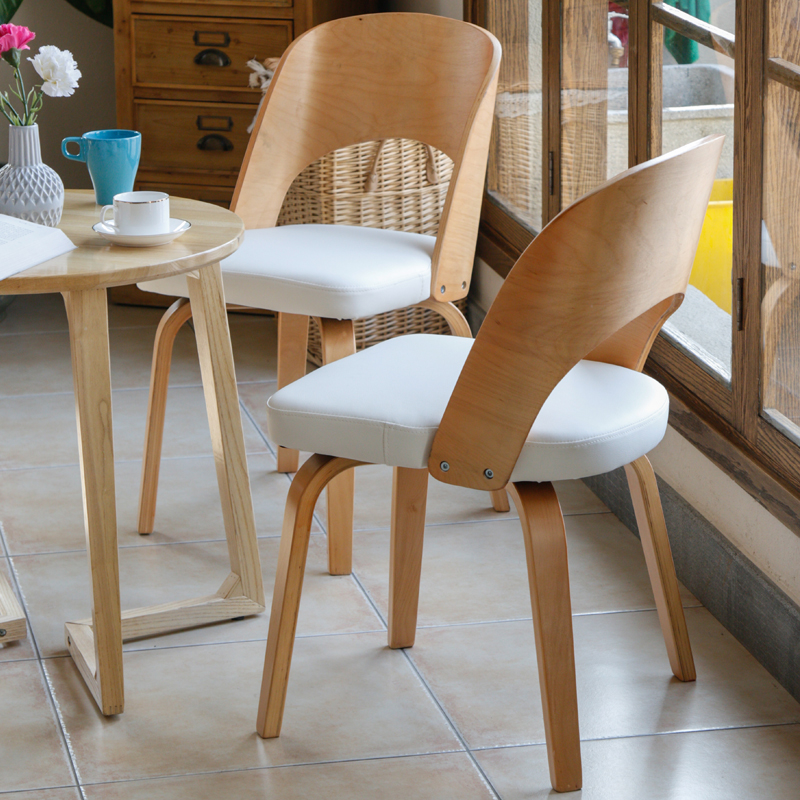 New Fashionable dining chair, solid wood sitting room chair, leisure meeting chair, solid wood pure cotton leather dining chairs modern nordic no paint wood princess chair hotel leisure armrest dining chair windsor office chair dining room chairs