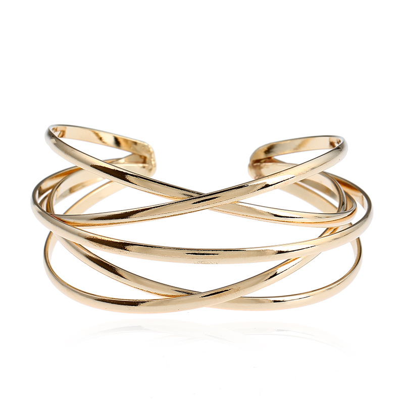 Cuff Bangles For Women Big Bohemia Boho Fashion Bangle Stainless Steel Gift Female Cute Ladies Jewelry Accessories