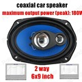 top quality 2 pcs 2 way 2x180W 6x9 inch car audio stereo speakers coaxial car speaker for all cars