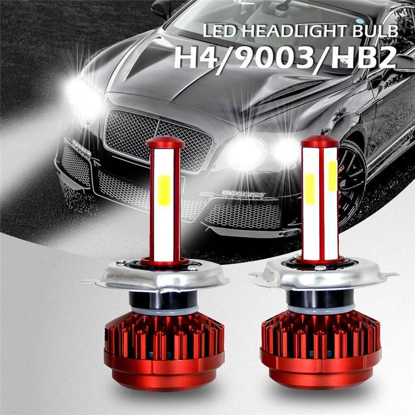 Car-styling CARPRIE Lights Pair H4 R7 LED Headlight Kit Buls High Beam Low Beam Fog Lamp 80W 8000LM td1211 dropship