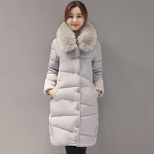 Winter Jacket Women's Down Coat  Fur Collar Hooded Parka Thickened Plus Size Italy Down Jacket Top Quality
