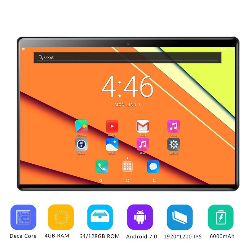 2019 Date 2.5D verre trempé 10 pouces Tablet PC Android 7.0 Deca Core 4 GB RAM 64 GB 128G ROM 1920*1200 IPS Tablet 10.1 + Cadeau-in Android Comprimés from Ordinateur et bureautique on AliExpress - 11.11_Double 11_Singles' Day 1