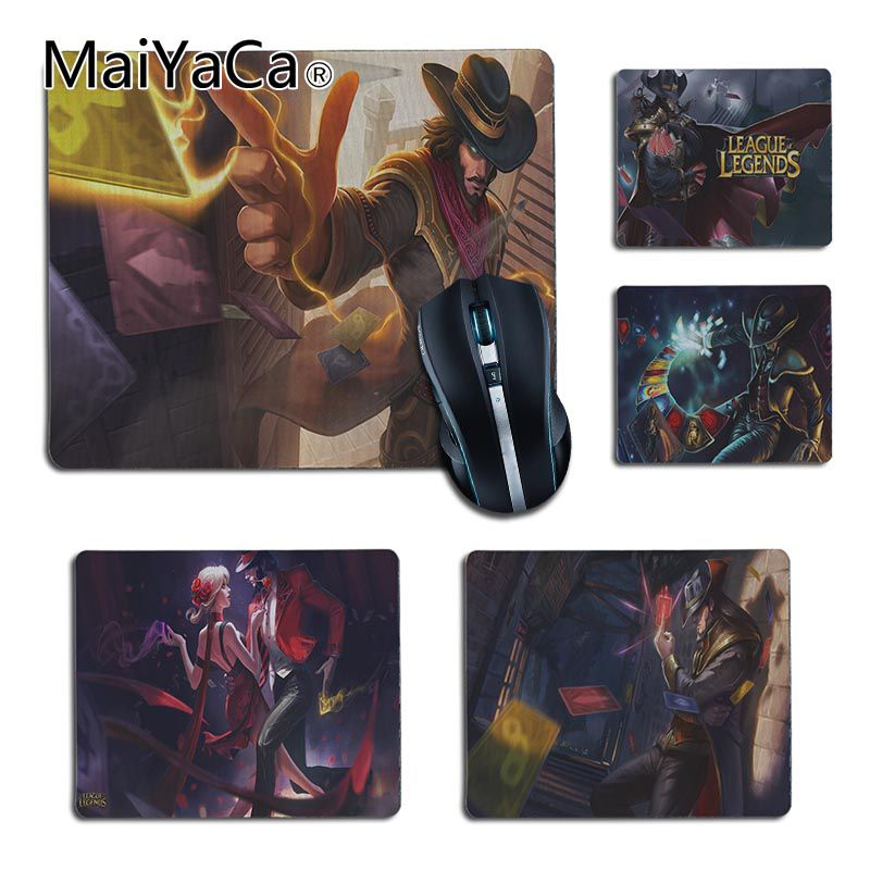 MaiYaCa High Quality League of legends Twisted Fate Laptop Computer Mousepad Smooth Writing Pad Desktops Mate gaming mouse pad image