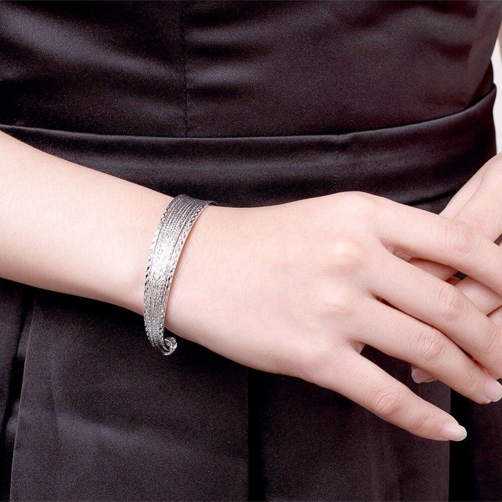 Բնօրինակ 925 արծաթե ձեռնաշղթաներ - Նուրբ զարդեր - Լուսանկար 6