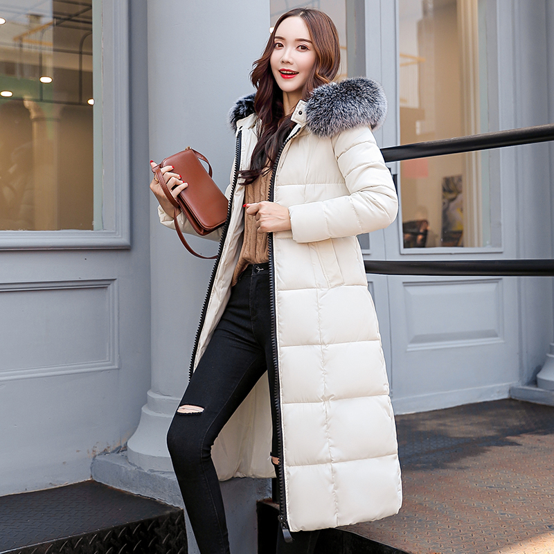 womens winter jackets and coats 2018   Parkas   for women 6 Colors Wadded Jackets warm Outwear With a Hood Large Faux Fur Collar