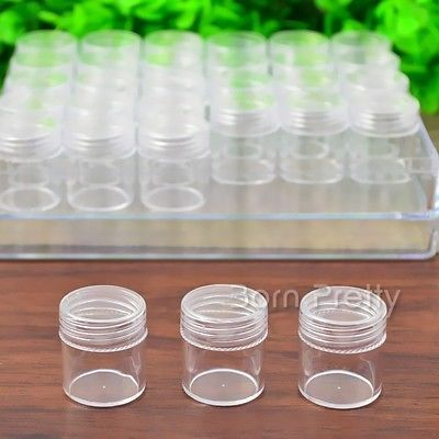Newly 30Pcs Nail Art Empty Glitter Display Box Container Case Nail Art DIY Manicure Box Holder Tools