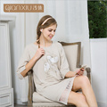Qianxiu Nightdress for women The fall of hot seven pop Home Furnishing sleeve lace Nightgown