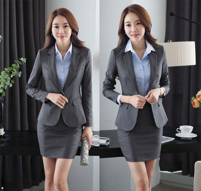 Formal Uniform Design Work Wear Suits With 3 Piece Jackets and Skirt and Shirt Professional Office Blazers for Business Women plus size short overalls