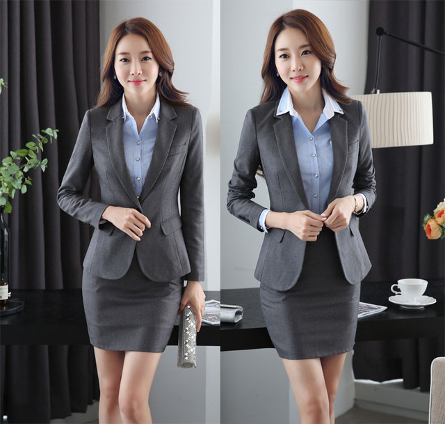 2c3fd38d498c Formal Uniform Design Work Wear Suits With 3 Piece Jackets and Skirt and  Shirt Professional Office Blazers for Business Women