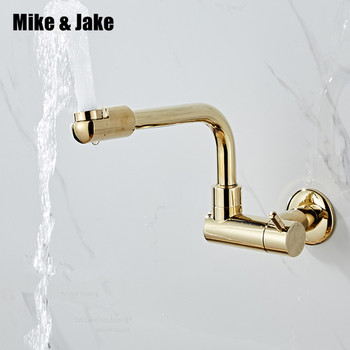 360 degree rotating single cold wal goldl tap basin sink wall mounted faucet cold gold faucet Water Tap Single Cold Faucet фото