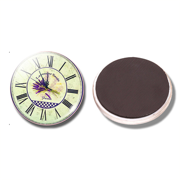 Lavender Sault Watch 30 MM Fridge Magnet Clock Waiting for Love Glass Dome Magnetic Refrigerator Stickers Note Holder Home Decor image