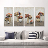 Modular Wall Paintings Flower and VaseNordic Deocrative Triptych Paintings Room Wall Pictures on the Wall for Living Room|Painting & Calligraphy|Home & Garden -