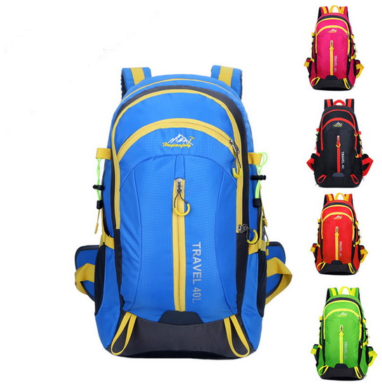 ФОТО 40L Outdoor Hiking Mountaineering Backpack Unisex Nylon Waterproof Breathable Leisure Travel Backpack Outdoor Sports Leisure Bag